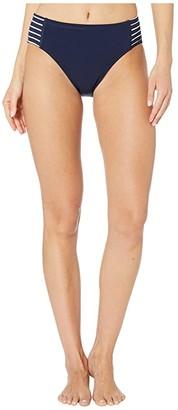 Robin Piccone Sailor High-Waist (Navy/White) Women's Swimwear