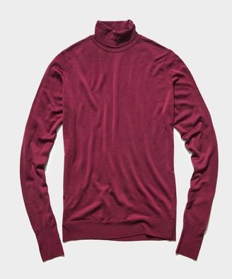 John Smedley Sweaters John Smedley Easy Fit Merino Roll Neck in Plum