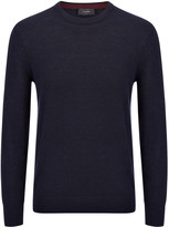Merinos Patch Sweater In Navy