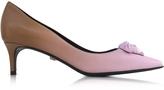 Versace Palazzo Gradient Leather Kitten Heel Pumps