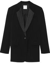 DKNY Satin-trimmed Crepe Blazer - Black