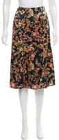 Zac Posen Floral Print Knee-Length Skirt