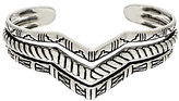 American West Sterling Silver Three Row Chevron Cuff by 23.0g