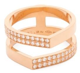 Repossi Antifer Off-width Diamond & 18kt Rose-gold Ring - Rose Gold