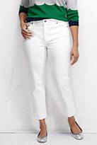 Classic Women's Plus Size Slim Leg Crop Jeans-White