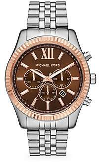 Michael Kors Women's Lexington Stainless Steel Chronograph Watch