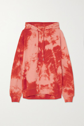 Ninety Percent + Net Sustain Linda Tie-dyed Organic Cotton-jersey Hoodie - Orange