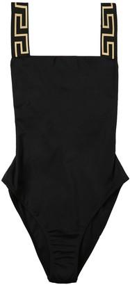 Versace Greca Trim Swimsuit Black