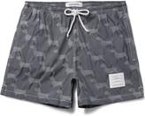 Thom Browne Hector Short-Length Dachshund-Jacquard Swim Shorts