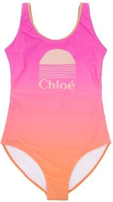 Chloé Kids TEEN gradient one-piece swimsuit