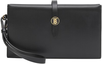 Burberry Large Monogram Motif Leather Folding Wallet
