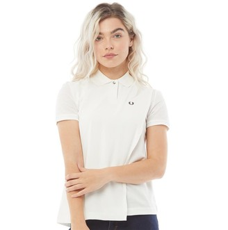 Fred Perry Womens Overlay Pique Shirt White