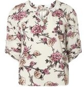 Dorothy Perkins Womens **Billie & Blossom Petite Grey Floral Blouse- Silver