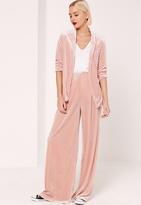 Missguided Velvet Blazer Pink