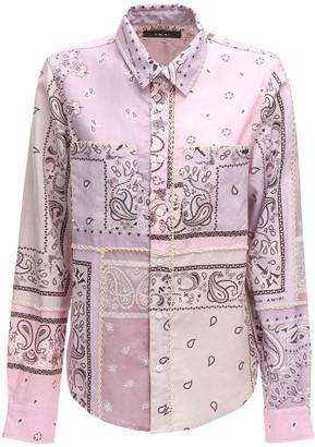Amiri Bandana Print Flannel Shirt