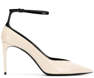Saint Laurent ankle strap pointed pumps