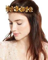 Jennifer Behr Charlotte Floral Circlet Headband, Gold