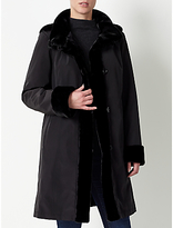 John Lewis Faux Fur Lined Hooded Mac