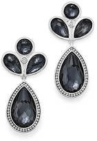 Ippolita Sterling Silver Lollipop® Multi Stone Drop Earrings in Hematite Doublet with Diamonds