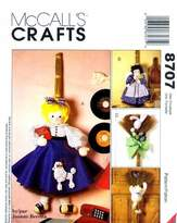 Mccall's 8707 Crafts Sewing Pattern Broom Dolls Wall Décor by