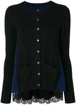 Sacai side panel cardigans - women - Cotton/Wool - 2