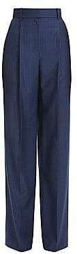 Theory Women's Wool High-Rise Stripe Pleated Trousers