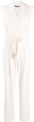 Peserico belted V-neck jumpsuit