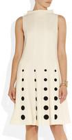 Moschino Polka dot-embroidered crepe dress