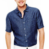 Claiborne Short-Sleeve Linen Shirt