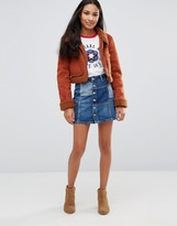 Pepe Jeans Jagger Patchwork Denim Mini Skirt