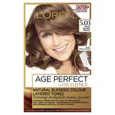 L'Oreal Excellence Age Perfect 5. 03 Warm Golden Brown 1 pack