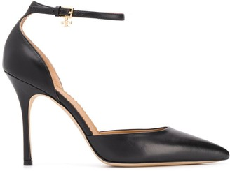 Tory Burch ankle strap charm pumps