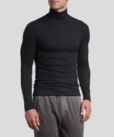 Atm Modal Rib Long Sleeve Turtleneck - Black