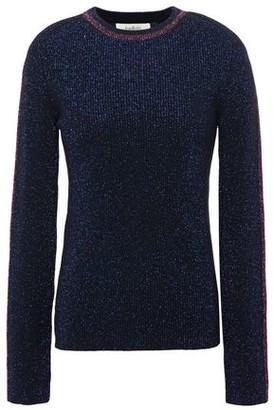 BA&SH Dipsy Metallic Ribbed-knit Sweater