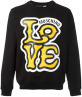 Love Moschino 'Love' print sweatshirt - men - Cotton - S