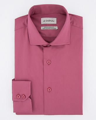 Le Château Stretch Cotton Sateen Euro Fit Shirt