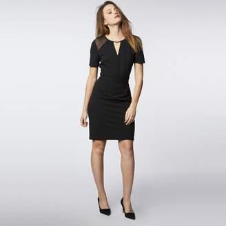 Morgan Bodycon Dress with Mesh Short Sleeves