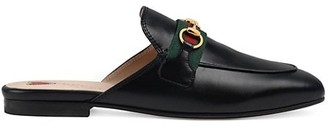 Gucci Women's Princetown Leather Slippers