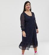 Junarose ditsy floral chiffon dress