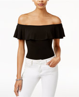 Bar III Off-The-Shoulder Bodysuit, Only at Macy's