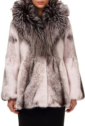 Gorski Mink Fur Jacket with Fox Fur Hood