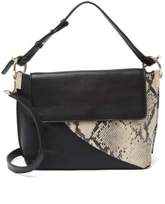Vince Camuto Ashby Contrast Leather Flap Crossbody Bag