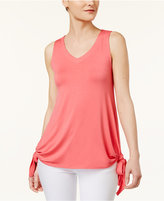Cable & Gauge Cupio Sleeveless Tie-Hem Top