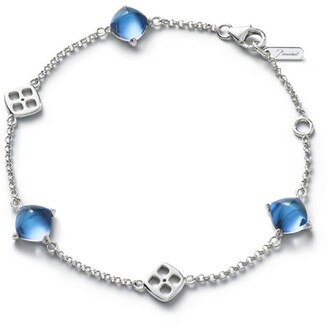 Baccarat Sterling Silver and Crystal Mini Medicis Bracelet