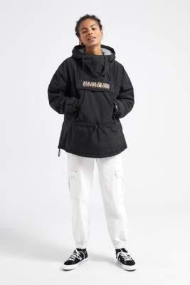 Napapijri Skidoo Black Popover Jacket - black S at Urban Outfitters
