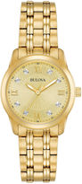Bulova Womens Gold Tone Bracelet Watch-97p119