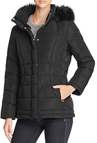 Calvin Klein Faux Fur-Trim Hooded Puffer Coat
