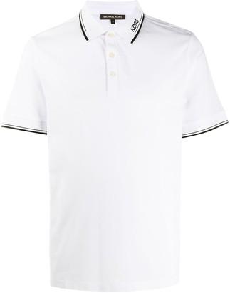Michael Kors stripe detailed polo shirt