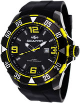 Seapro Diver Mens Yellow and Black Silicone Strap Watch