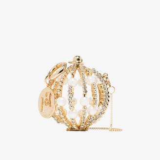 Rosantica gold tone baby Sasha crystal sphere ball bag